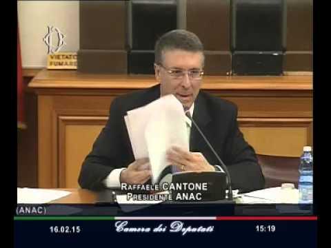 Roma - Concessioni autostradali, audizione Cantone (16.02.15)