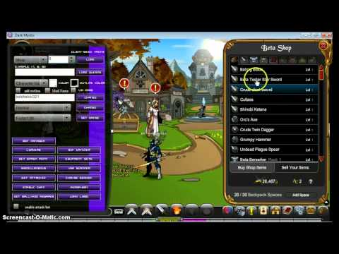 AQWorlds Beta Shop ID Dark Mystic