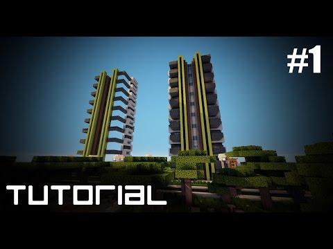 Minecraft: Como hacer una Torre Residencial Parte #1