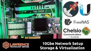 10Gbe Network Setup for Storage & Virtualization using UnIFI US-16-XG / Chelsio / FreeNAS / XCP-NG