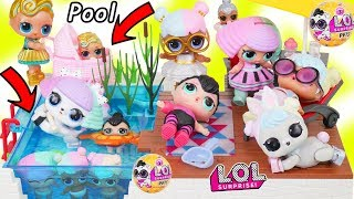 LOL Surprise Dolls + Lil Sisters Find Wave 2 Pets Mystery Blind Bags at Playmobil Pool