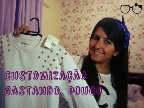 Dica de como comprar roupa barata (a peça mais cara custou 20,00) para customizar!