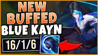 *NEW* BUFFED BLUE KAYN IS ACTUALLY AMAZING | HARD CARRY IN CHALLENGER - League of Legends