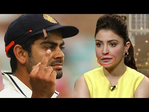 Virat Kohli's Shocking Reaction On Anushka Sharma's Lip Job video