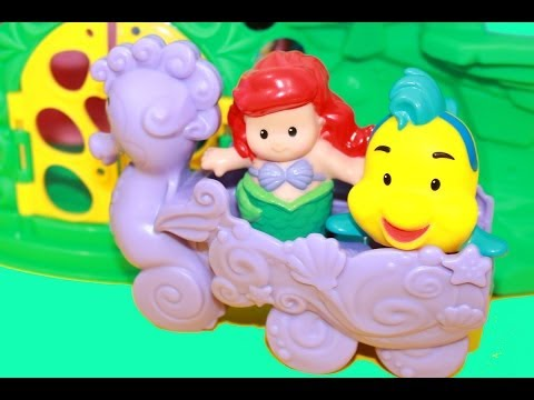 Fisher Price Princess ARIEL'S CASTLE Little People Toy Review Disney's The Little Mermaid