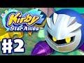 Kirby Star Allies - Gameplay Walkthrough Part 2 - Planet Popstar 100% Meta Knight! (Nintendo Switch) thumbnail