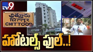 Hotels and lodge housefull in Chittoor over election results