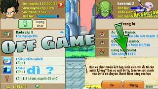 Nh0csc1    Mở Skill 2 Đệ Tử Và Cái Kết... Off Game   ngọc rồng online