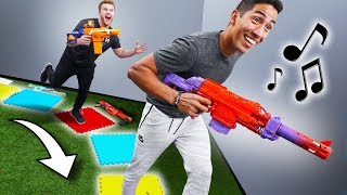 NERF Musical Squares Challenge!