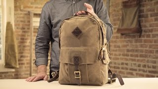 The Classic Backpack   Waxed Canvas & Leather Backpack