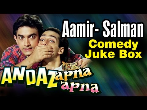 Aamir Khan Salman Khan Best Comedy Scenes Andaz Apna Apna -...