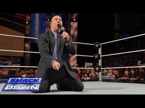 Paul Heyman Comes Before The Wwe Universe With A Very Important Message: Smackdown, April 18, 2014 video
