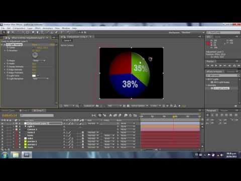 Grafico de torta con porcentajes - Tutorial After Effects