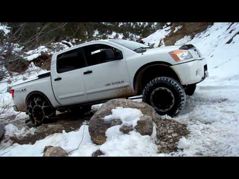 Nissan Titan 2008 4x4 off road at Redrock NCA in snow