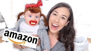 TESTING WEIRD AMAZON BABY PRODUCTS! 2