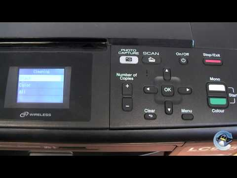 How to do Head Cleaning on a Brother DCP-J315W Printer