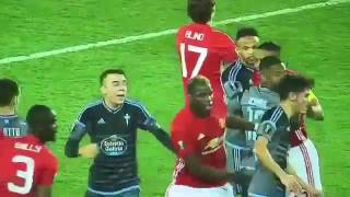 FIGHT And RED CARDS Manchester United Vs Celta Vigo Bailly & Roncaglia