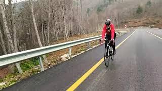 Yol bisikletiyle Uludağ zirveye doğru..
