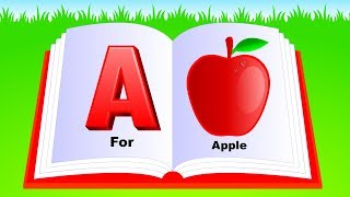 Learn Alphabet A to Z | ABC Preschool Book Learning A for APPLE for Children and kids Phonetics