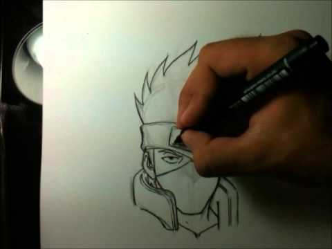 Kakashi Drawing Easy How to Draw Kakashi