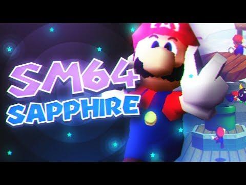 Super Mario 64 Sapphire full playthrough (SM64 RomHack)
