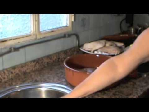pollo asado en olla de barro