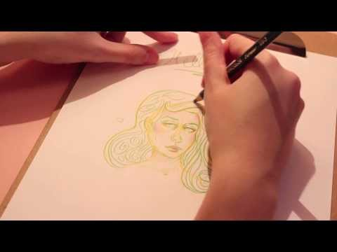 Drawing with Pencil Crayons (ASMR whisper/soft spoken)