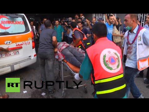GRAPHIC: Dead & injured as Israel bombs Gaza market during 4hr ceasefire