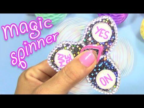 DIY HOW TO MAKE MAGIC FIDGET SPINNER! ASK THE MAGIC SPINNER!
