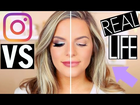 INSTAGRAM MAKEUP VS REAL LIFE! | Casey Holmes