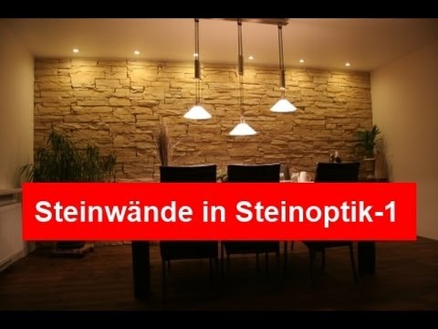 steinwand steinw nde in steinoptik ideen youtube. Black Bedroom Furniture Sets. Home Design Ideas