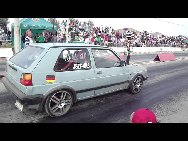 GOLF A 2 VR6 TURBO VS CARIBE TURBO