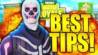 12 SIMPLE TIPS TO IMPROVE AT FORTNITE TIPS AND TRICKS! HOW TO GET BETTER AT FORTNITE BATTLE ROYALE!