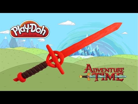 play doh Adventure time Finn's demon sword - how to make with playdoh