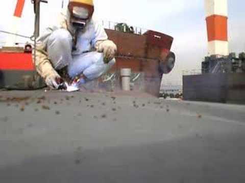 co2 fcaw welding (shipyard)