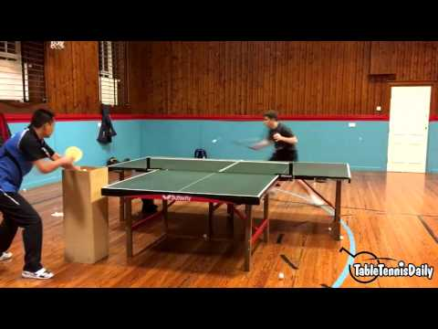 Insane table tennis training by Calum Main!