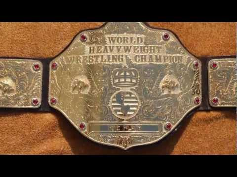 Real WCW J-Mar Big Gold Wrestling Championship Title Belt Ric Flair World Heavyweight WWE