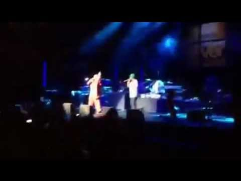DJ Spice DJ Norie Mc Wassy 1st performance at the Barclay Center NYC with Machel