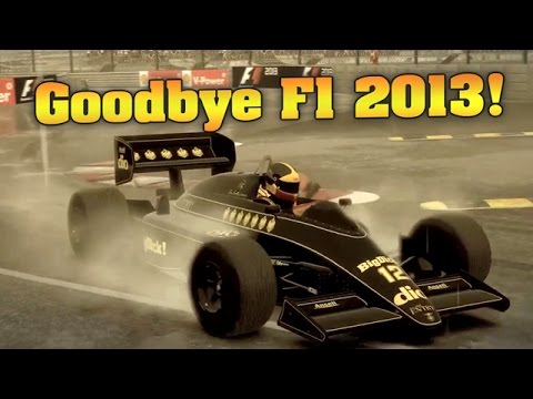 F1 2013 - Monaco, Realistic Damage, Wet, Lotus 98T Bonanza!