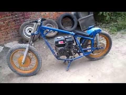 Самодельная из двигателя от мотоцикла рама