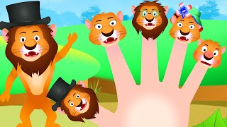 The Lion Finger Family | Finger Family Song | Nursery Rhyme for Children