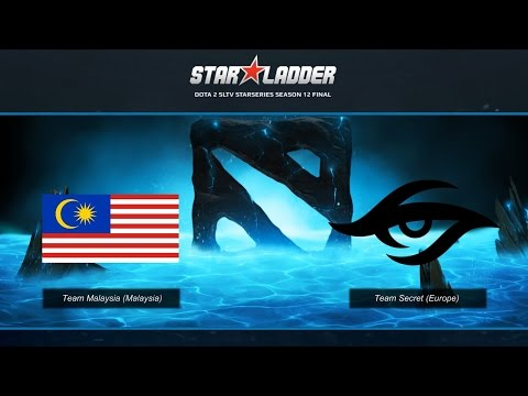 Malaysia vs Secret Game 1   StarLadder 12 LAN Finals   MY vs