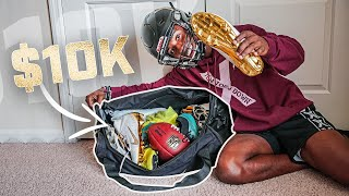 WHAT'S IN MY FOOTBALL BAG! (OVER $10,000 IN GEAR)