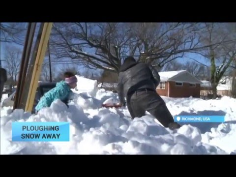 Ploughing Snow Away: US East Coast states dig out after snow storm
