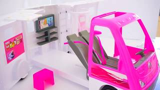 Barbie Doll Camping Car Mobile Van Unboxing