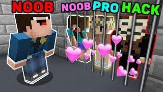 Minecraft NOOB vs PRO vs HACKER : HOW THE GIRLS ESCAPE FROM PRISON? IN MINECRAFT! ANIMATION!