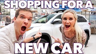GETTING A FAMILY CAR? 👪 SHOPPING FOR A NEW CAR 🚘 CAR SHOPPING FOR NEW TOYOTA RAV4 | BUYING A CAR