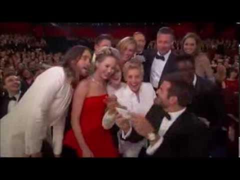 Ellen DeGeneres Oscar Selfie With Stars - Oscars 2014
