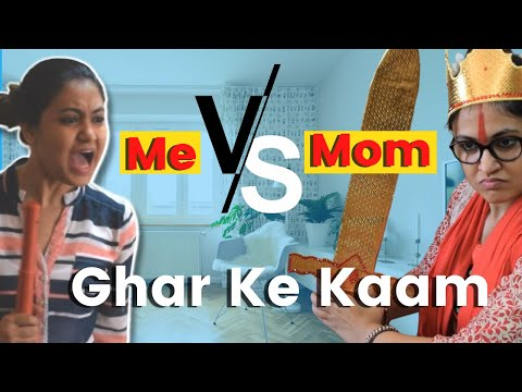 Cleaning House - Me Vs Mom | Indian House Cleaning | Captain Nick