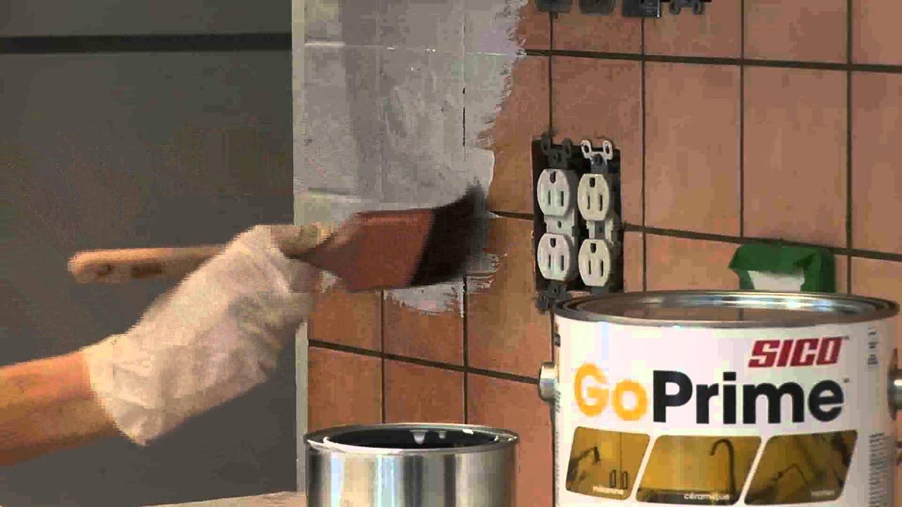 Comment peinturer des carreaux de c ramique youtube - Carreaux de ceramique ...